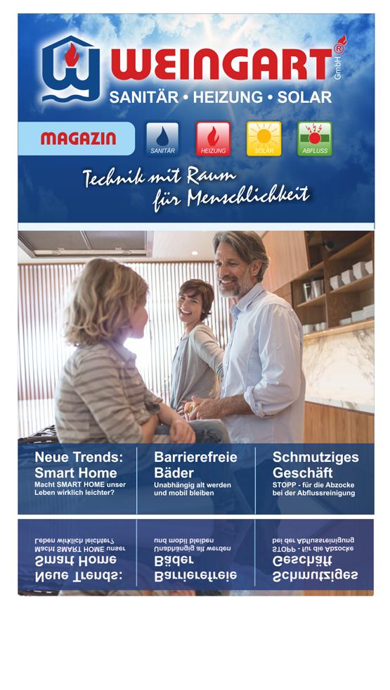 Weingart Magazin - Weingart GmbH - Sanitär - Heizung - Solar - Abfluss - Heusweiler